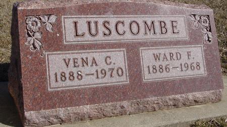 LUSCOMBE, WARD & VENA C. - Ida County, Iowa | WARD & VENA C. LUSCOMBE