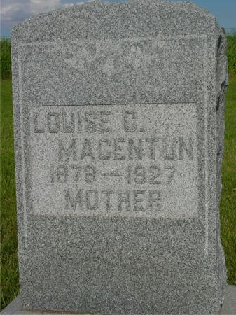 MACENTUM, LOUISE - Ida County, Iowa | LOUISE MACENTUM