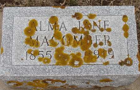 MACOMBER, ALMA JANE - Ida County, Iowa | ALMA JANE MACOMBER