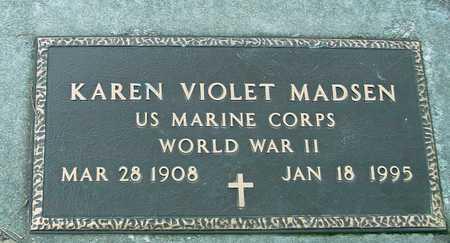 MADSEN, KAREN VIOLET - Ida County, Iowa | KAREN VIOLET MADSEN
