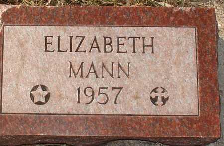 MANN, ELIZABETH - Ida County, Iowa | ELIZABETH MANN