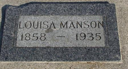 MANSON, LOUISA - Ida County, Iowa | LOUISA MANSON