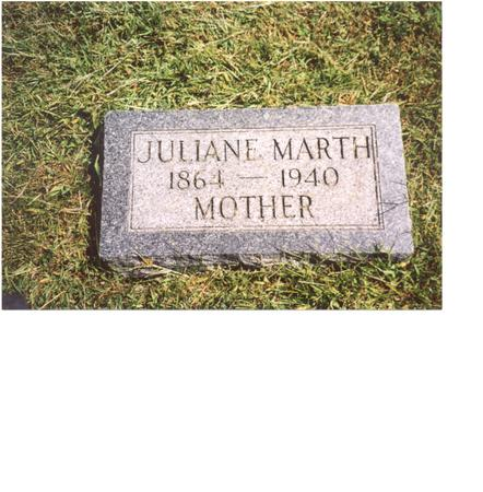 MARTH, JULIANE - Ida County, Iowa | JULIANE MARTH