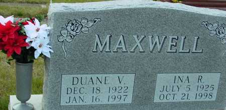 MAXWELL, DUANE & INA R. - Ida County, Iowa | DUANE & INA R. MAXWELL