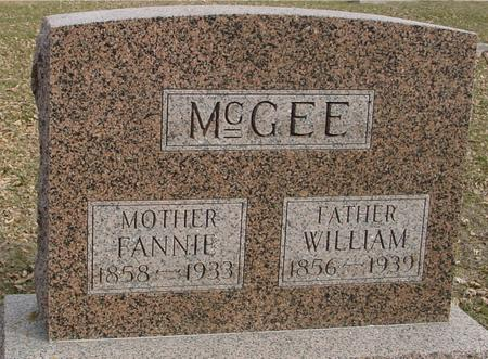 MCGEE, WILLIAM & FANNIE - Ida County, Iowa | WILLIAM & FANNIE MCGEE
