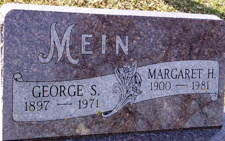 MEIN, GEORGE & MARGARET - Ida County, Iowa | GEORGE & MARGARET MEIN