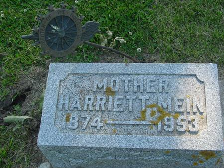 MEIN, HARRIETT - Ida County, Iowa | HARRIETT MEIN