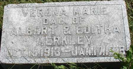 MERKLEY, VERONA MARIE - Ida County, Iowa | VERONA MARIE MERKLEY