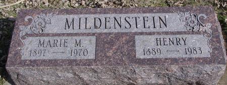 MILDENSTEIN, HENRY & MARIE - Ida County, Iowa | HENRY & MARIE MILDENSTEIN