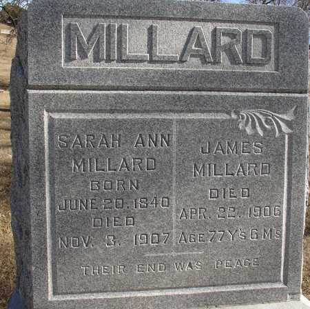 MILLARD, JAMES & SARAH A. - Ida County, Iowa | JAMES & SARAH A. MILLARD