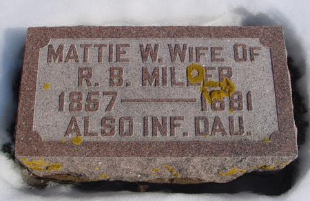 MILLER, MATTIE W. - Ida County, Iowa | MATTIE W. MILLER