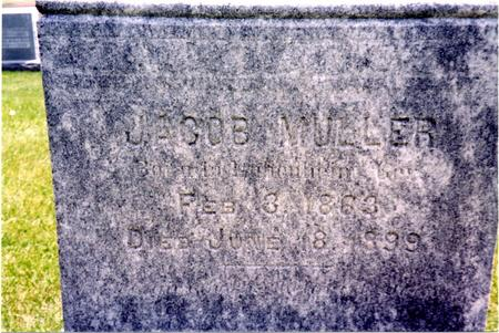 MULLER, JACOB - Ida County, Iowa | JACOB MULLER