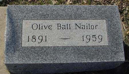 BALL NAILOR, OLIVE - Ida County, Iowa | OLIVE BALL NAILOR