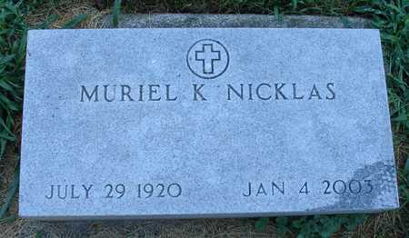 NICKLAS, MURIEL K. - Ida County, Iowa | MURIEL K. NICKLAS