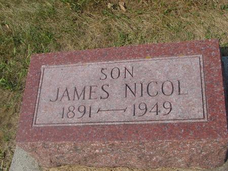NICOL, JAMES - Ida County, Iowa   JAMES NICOL
