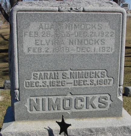 NIMOCKS, ADAM & ELVIRA - Ida County, Iowa | ADAM & ELVIRA NIMOCKS