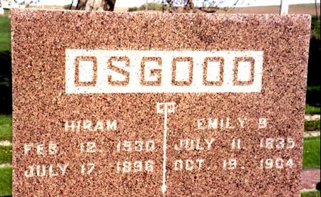 OSGOOD, HIRAM - Ida County, Iowa | HIRAM OSGOOD