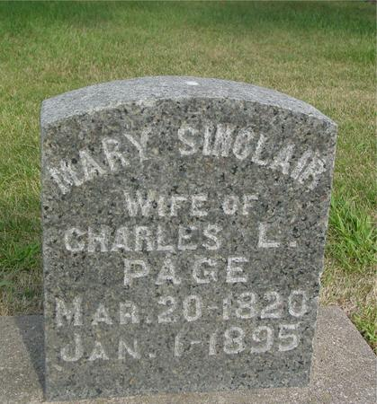 SINCLAIR PAGE, MARY - Ida County, Iowa | MARY SINCLAIR PAGE