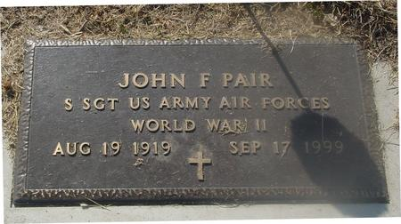 PAIR, JOHN F. - Ida County, Iowa | JOHN F. PAIR