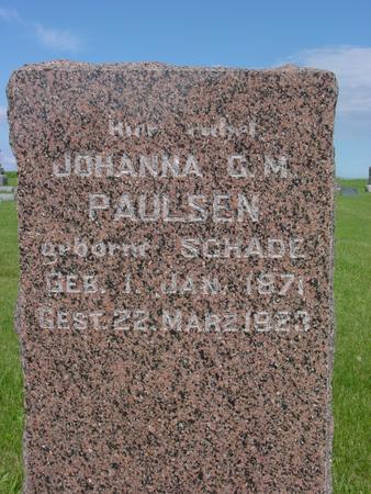 PAULSEN, JOHANNA - Ida County, Iowa | JOHANNA PAULSEN