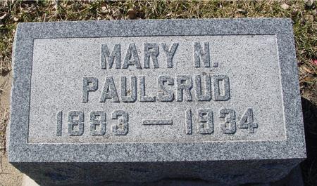 PAULSRUD, MARY N. - Ida County, Iowa | MARY N. PAULSRUD
