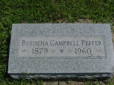 CAMPBELL PEFFER, BYRDENA - Ida County, Iowa | BYRDENA CAMPBELL PEFFER
