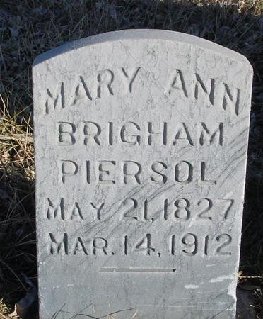 PIERSOL, MARY ANN - Ida County, Iowa | MARY ANN PIERSOL