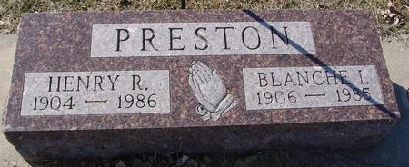 PRESTON, HENRY R. & BLANCHE - Ida County, Iowa | HENRY R. & BLANCHE PRESTON