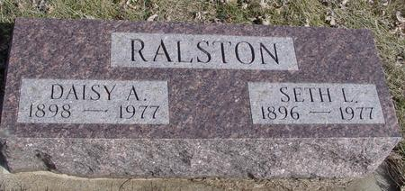 RALSTON, SETH & DAISY A. - Ida County, Iowa | SETH & DAISY A. RALSTON