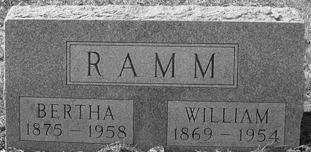 RAMM, WILLIAM & BERTHA - Ida County, Iowa | WILLIAM & BERTHA RAMM