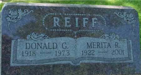 REIFF, DONALD & MERITA - Ida County, Iowa | DONALD & MERITA REIFF