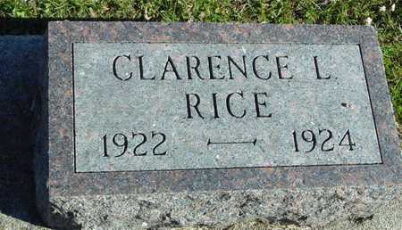 RICE, CLARENCE L. - Ida County, Iowa | CLARENCE L. RICE