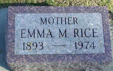 RICE, EMMA M. - Ida County, Iowa | EMMA M. RICE