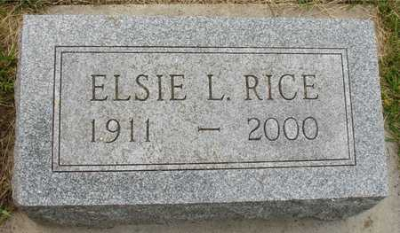 RICE, ELSIE L. - Ida County, Iowa | ELSIE L. RICE