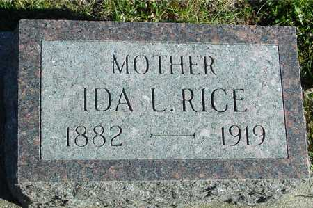 RICE, IDA L. - Ida County, Iowa | IDA L. RICE