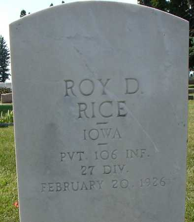 RICE, ROY D. - Ida County, Iowa | ROY D. RICE