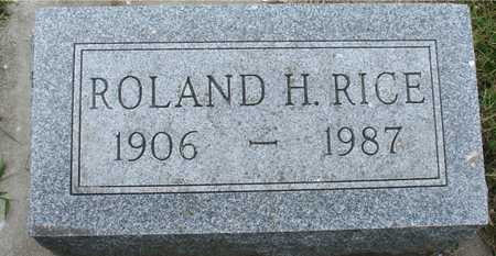 RICE, ROLAND H. - Ida County, Iowa | ROLAND H. RICE