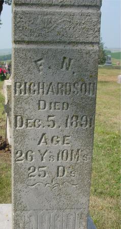 RICHARDSON, F. N. - Ida County, Iowa   F. N. RICHARDSON