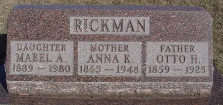 RICKMAN, OTTO & ANNA K. - Ida County, Iowa | OTTO & ANNA K. RICKMAN