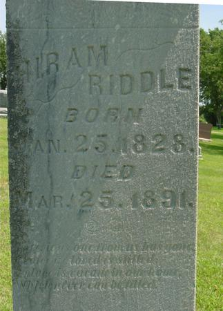 RIDDLE, HIRAM - Ida County, Iowa | HIRAM RIDDLE