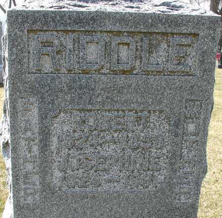 RIDDLE, ROBERT & JOSEPHINE - Ida County, Iowa | ROBERT & JOSEPHINE RIDDLE