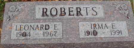 ROBERTS, LEONARD & IRMA - Ida County, Iowa | LEONARD & IRMA ROBERTS