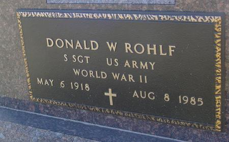 ROHLF, DONALD W. - Ida County, Iowa | DONALD W. ROHLF