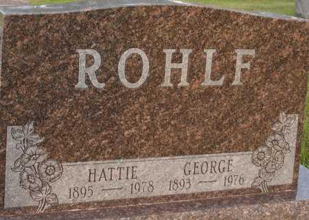 ROHLF, GEORGE & HATTIE - Ida County, Iowa | GEORGE & HATTIE ROHLF