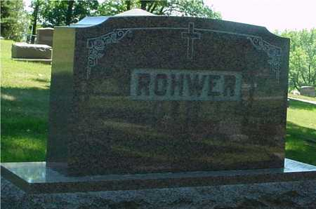 ROHWER, FAMILY MONUMENT - Ida County, Iowa | FAMILY MONUMENT ROHWER