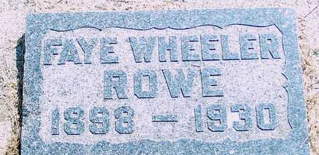 ROWE, FAYE - Ida County, Iowa | FAYE ROWE