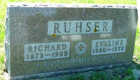 RUHSER, RICHARD & EVALINE - Ida County, Iowa | RICHARD & EVALINE RUHSER