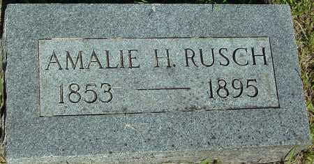 RUSCH, AMALIE H. - Ida County, Iowa | AMALIE H. RUSCH