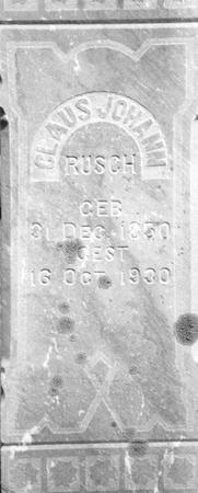 RUSCH, CLAUS - Ida County, Iowa | CLAUS RUSCH