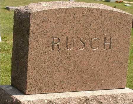 RUSCH, FAMILY MARKER - Ida County, Iowa | FAMILY MARKER RUSCH